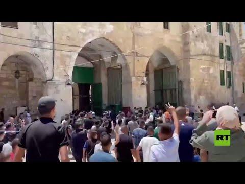 مواجهات بين مصلين والقوات الإسرائيلية عند باب السلسلة المؤدي للأقصى  - نشر قبل 2 ساعة