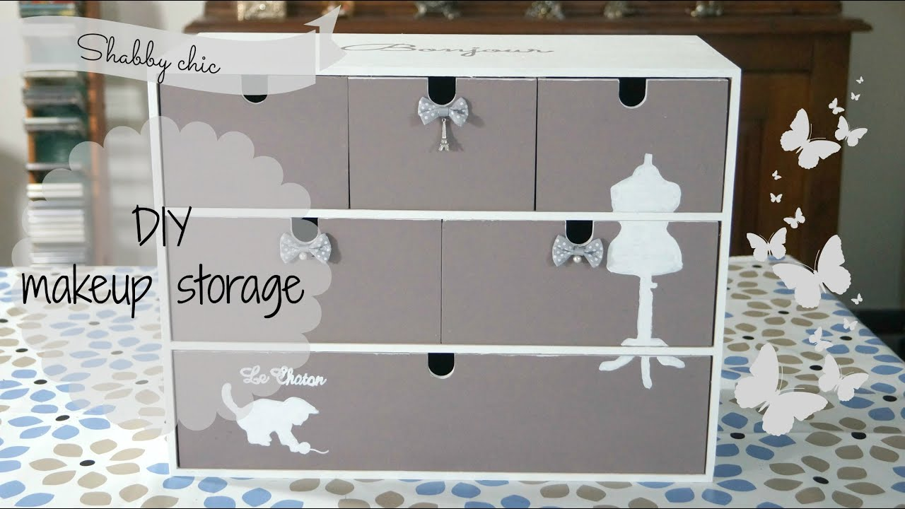 DIY makeup  jewelry storage shabby chic creiamo la