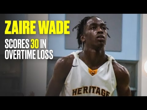 Zaire Wade Drops 30, But American Heritage Loses in Overtime