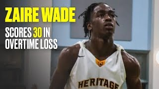 Zaire Wade Drops 30, But American Heritage Loses in Overtime - Full Game Highlights