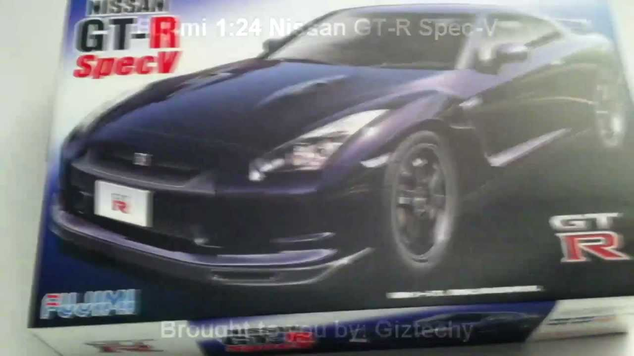 Fujimi 124 Nissan Gt R Spec V Unboxing Youtube