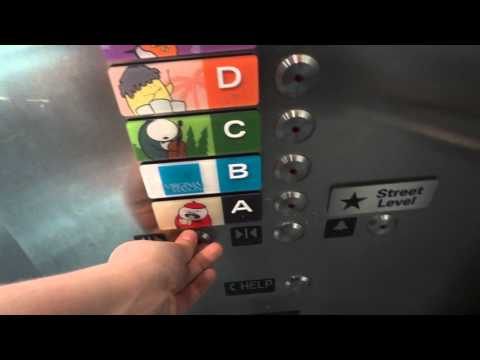 Very Nice KONE Ecodisc Traction Elevators @ University Village South Parking, Seattle, WA