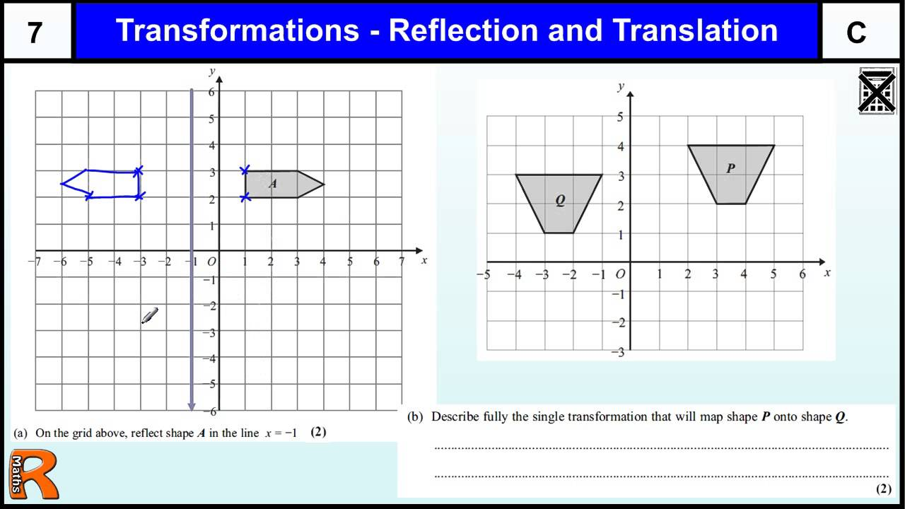 Transformations Gcse Maths Higher Foundation Revision Exam Paper