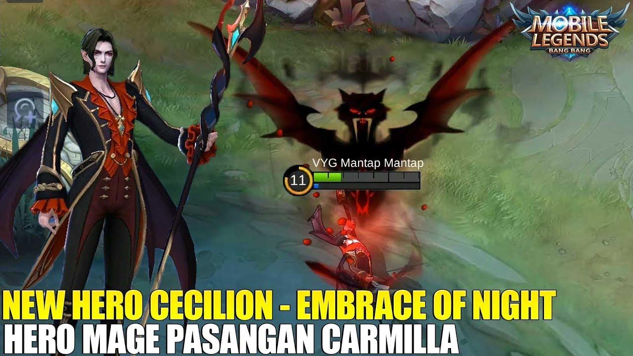 NEW HERO CECILION HERO MAGE BARU PASANGAN CARMILLA SKILL NYA MENGERIKAN MOBILE LEGENDS