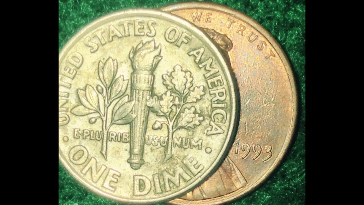 Error Penny: 1993-D Penny Struck With Dime Reverse - PCGS ...