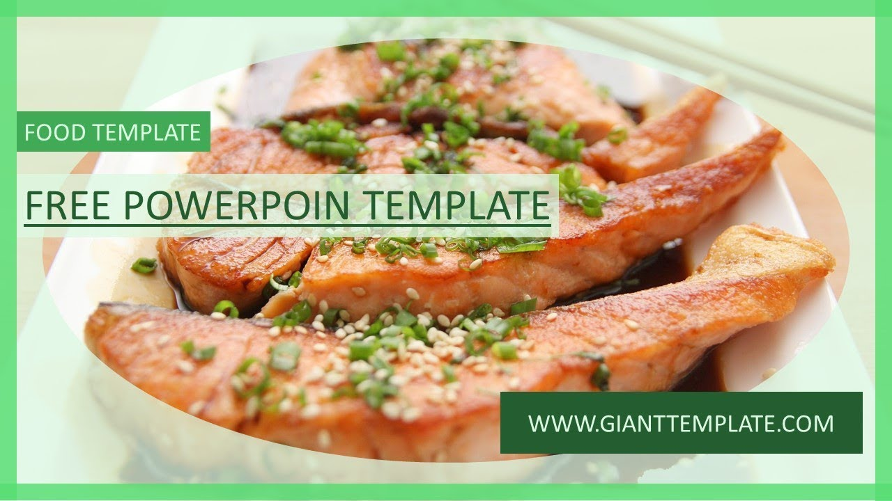 food presentation template - free powerpoint template 2017 - youtube, Modern powerpoint