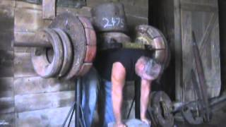 Backlift Training in Barn 2475 lbs.