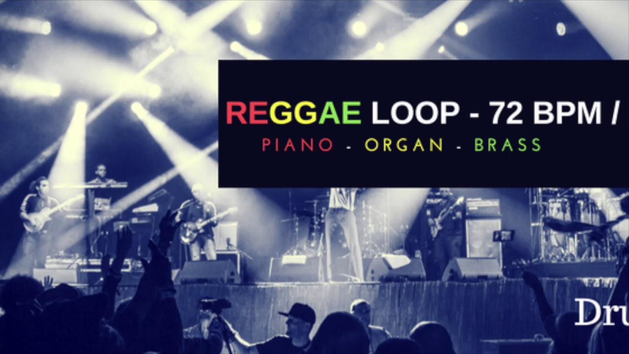 Reggae Loop (organ piano brass) 72 BPM - Drum Loop - YouTube