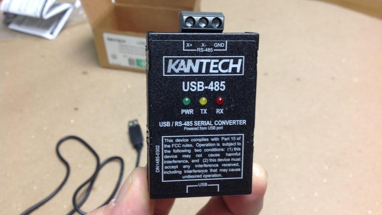 KANTECH USB-485 CONVERTER DRIVERS (2019)