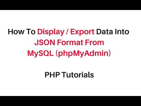 php mysql (phpmyadmin 4.7) data into format json
