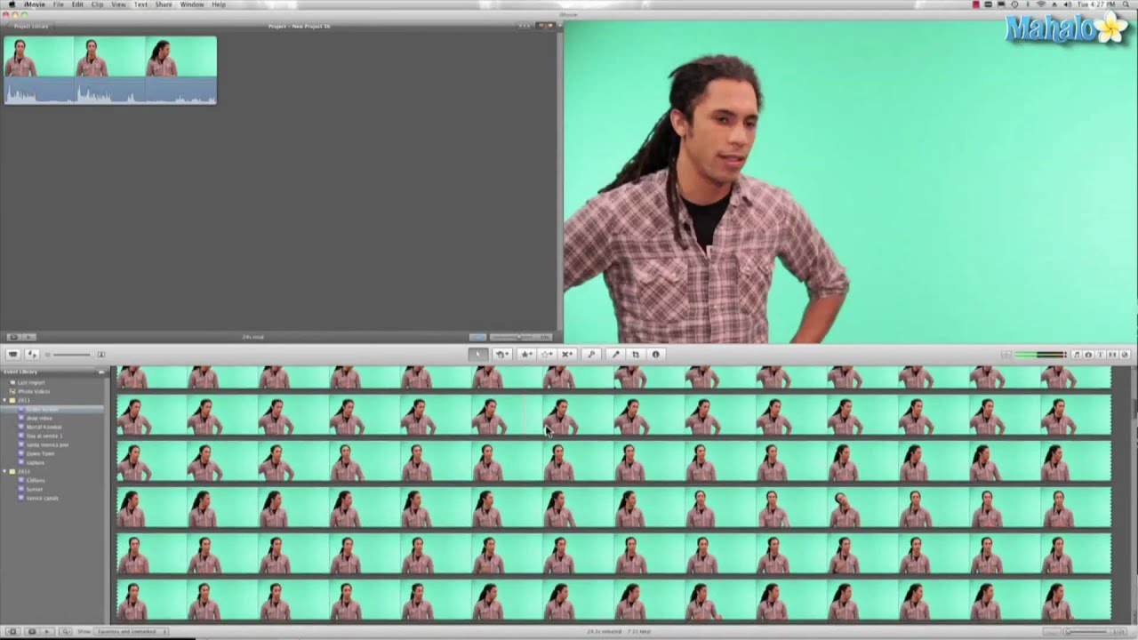 Learn Imovie 11 How To Use Green Screen Effects Youtube