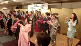 参加者の皆さんの一体感、とても素晴らしい!! まつり 歌:品川さと子.