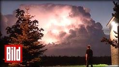 Krasse Blitze am Himmel - Wetterleuchten überm Norden ( Gewitter / Phänomen / Hamburg )