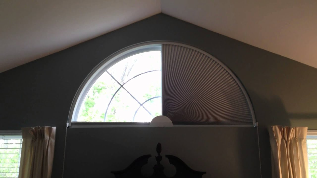 Movable Blind For Arch Shaped Window By Blind Builders Inc Feasterville Pa 19053 Youtube