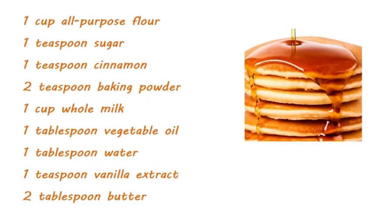 how to make pancakes without sugar and milk