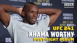 """UFC 241: Khama Worthy Doesn't Care About World Titles: """"I'm Here To Make Money"""" - MMA Fighting"""