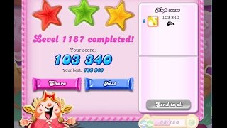 Candy Crush Saga Level 1187    ★★★   NO BOOSTER