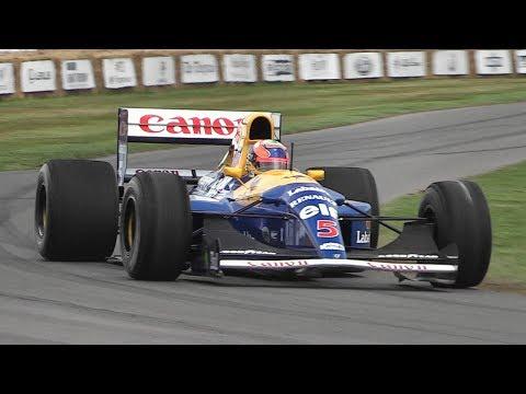 1992 Williams FW14B F1 Ex Mansell - Formula 1 V10 Engine Sound