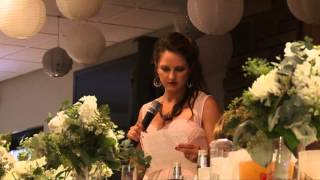 Brittany and Trenton Story Wedding Speeches