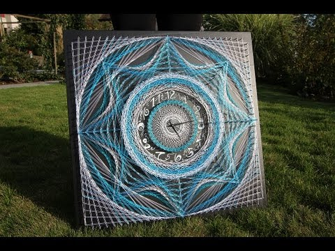 String Art By Aline Campbell Timelaps Youtube