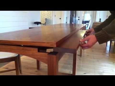 An Architect Wanted a Custom Dining Table That Could Expand to Hold Blueprints, Daniel Chaffin Furniture Makers Delivered