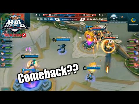 Game1 Bren VS AA Own | Mabaliktad pa kaya ang laro? MPL-PH S2 Week6 Day1