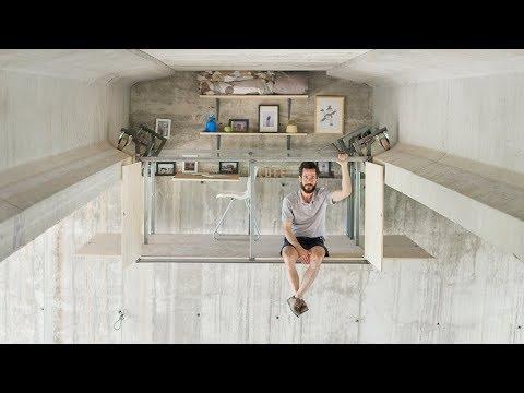 Fernando Abellanas suspends micro studio beneath a bridge in Valencia