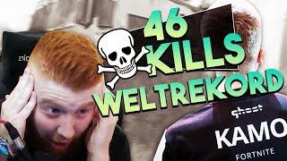😱🙏 46 KILLS SOLO VS SQUAD WELTREKORD | ICH REAGIERE AUF KAMOS WELTREKORD | Fortnite Battle Royale