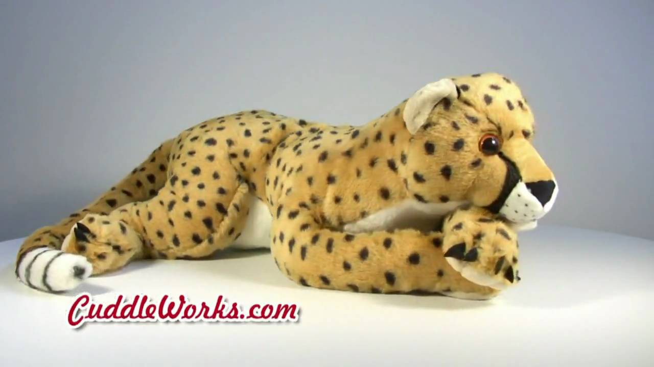 Giant Stuffed Animals Cheetah At Cuddleworks Com Youtube