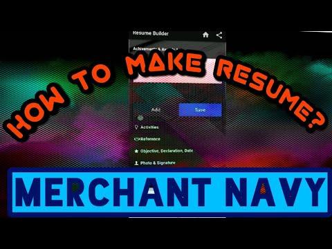 Merchant Navy Resume