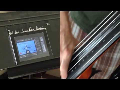 Tune 5 string NS Design bass with VITALtuner (best tuner app)