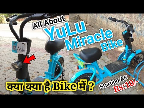 Riding The Yulu Bike Pedal And Tring Tring