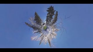 Rock & Snow  Extreme snowmobile race through Sheregesh, Russia (360 Video)