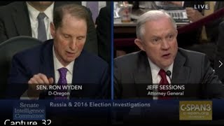 Jeff Sessions Q+A June 13, 2017 Senate Intelligence Committee