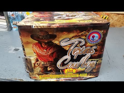 TEXAS COWBOY  - 500G CAKE - FISHERMAN FIREWORKS
