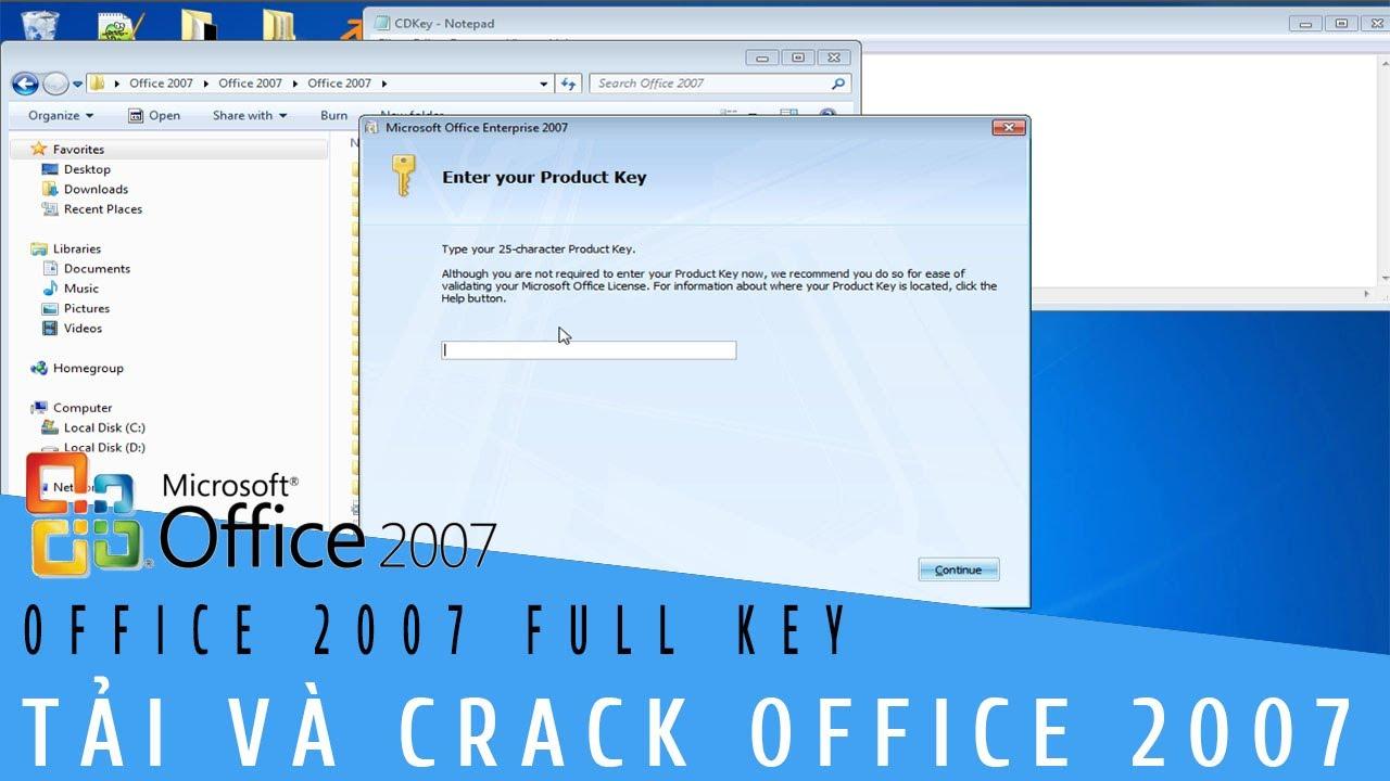 RECAP THỦ THUẬT | Tải MICROSOFT OFFICE 2007 FULL KEY | HƯỚNG DẪN TẢI VÀ CRACK  OFFICE 2007 FULL KEY