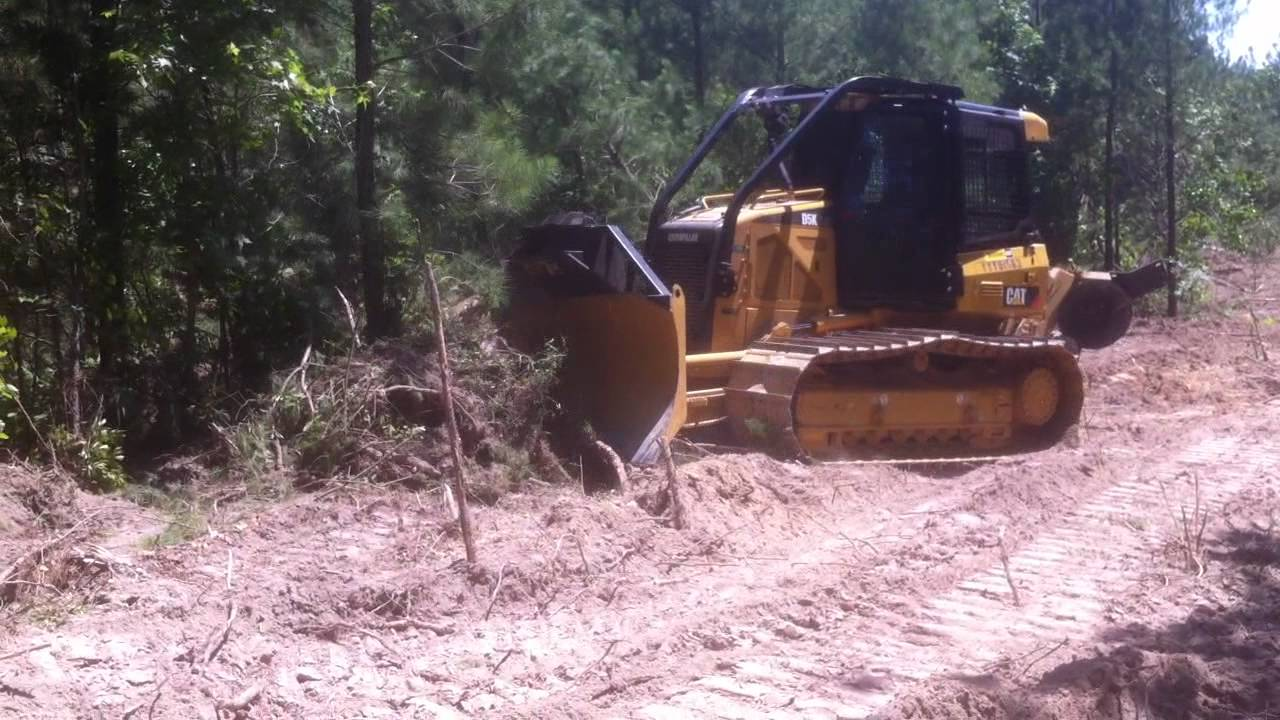 Tractor Forestry Package : Caterpillar d k fireplow tractor youtube