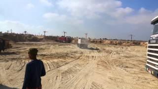 قناة السويس الجديدة مصر: أول موقع حفرأغسطس 2014