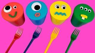 Learn Colors For Kids 4 #PlayDohIceCream #ColorsForKids Surprise Eggs Kinder Surprise Egg