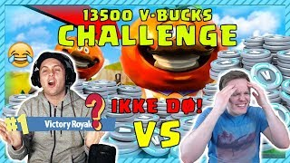 NOT DIE! 😱 13500 V-Bucks Challenge with RobTheSir 😄 | Norwegian Fortnite