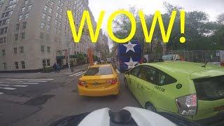 NYC Cycling Vlog - S2E6 - Midtown Manhattan New York - Lane Filtering