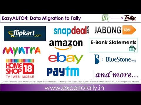 Import Sales Amazon, Flipkart, Snapdeal Paytm to Tally.ERP9