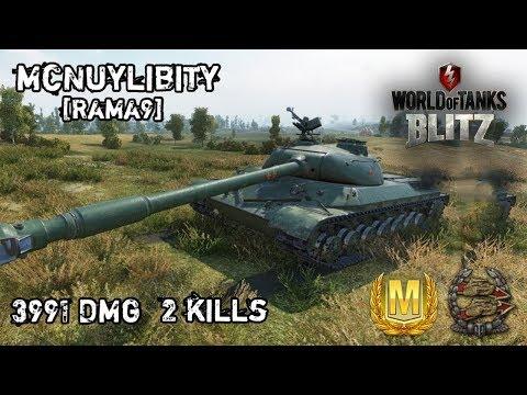 World of Tanks Blitz Thailand # Mastery WZ-111 1-4 ว่าวจน M