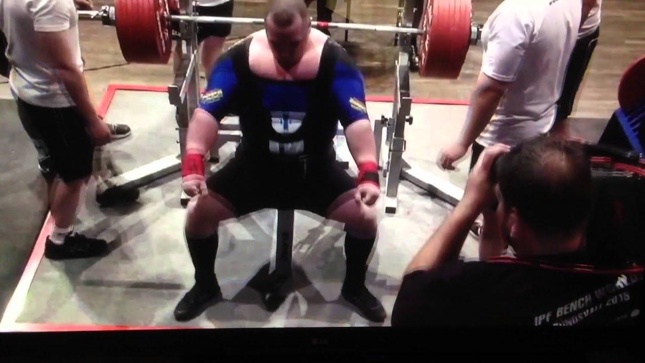 Fredrik Smulter 401 Kg 884 Lbs Bench Press World Record Youtube
