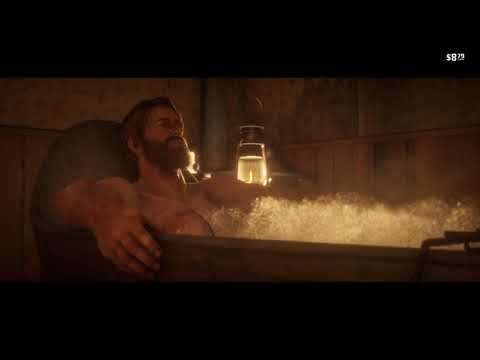 Red Dead Redemption 2 Taking a bath