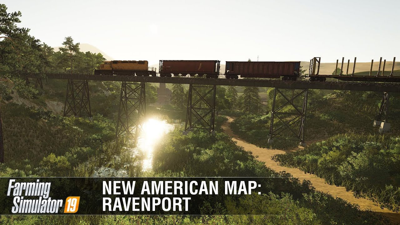 American Map Company Inc.Farming Simulator 19 New American Map Ravenport Featurette Youtube