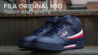 FILA Original Mid 'Navy and White