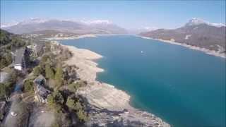 baie des hyvans, lac de Serre Ponçon