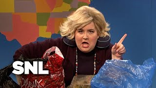 weekend update the worst lady on an airplane snl
