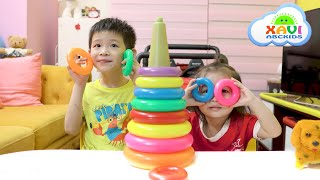 Colors song with Xavi and baby Anna, Learn Colors with Finger Family Song
